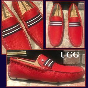 Ugg Bel-Air Stripe Slip-On Leather Loafer Sz 11